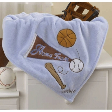 CoCaLo Sports Fan Appliqued Sherpa Blanket