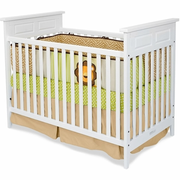 Child Craft Logan Traditional Crib in Matte White