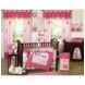 Sweet JoJo Designs Flower Pink and Green 9 Piece Crib Bedding Set
