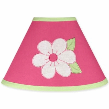 Sweet JoJo Designs Flower Pink and Green Lamp Shade