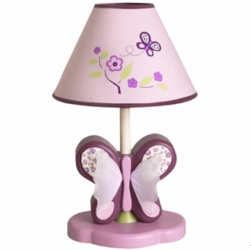 CoCaLo Sugar Plum Lamp Shade and Base