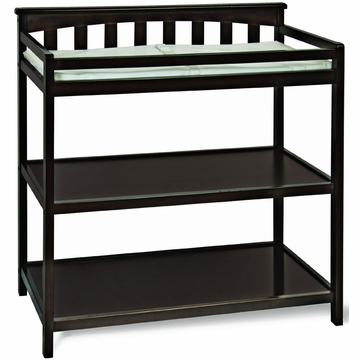 Child Craft Flat Top Changing Table in Jamocha