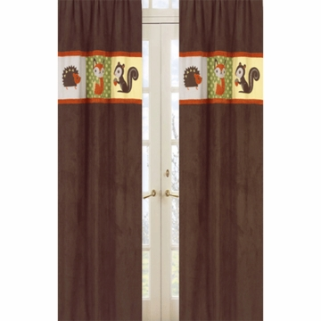 Sweet JoJo Designs Forest Friends Window Panels- Set of 2