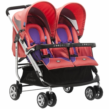 Zooper 2011 Tango Double Stroller in Canyon Red