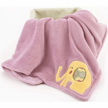 CoCo & Company Alphabet Sweeties Appliqued Boa Blanket