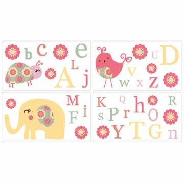 CoCo & Company Alphabet Sweeties Removable Wall Appliques