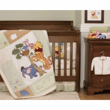 KidsLine Winnie the Pooh Friends Indeed Baby Crib Bedding 4 Piece Set