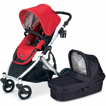 Britax B-Ready 2012 with Bassinet - Red/Black