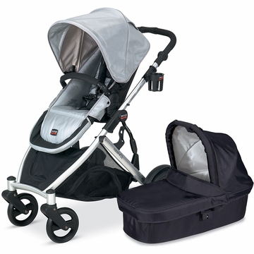 Britax B-Ready 2012 with Bassinet - Silver/Black