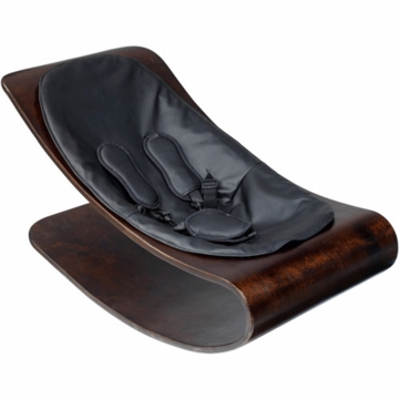 Bloom Coco Style Wood Cappuccino Baby Lounger in Midnight Black
