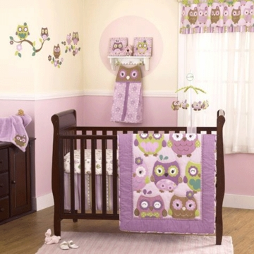 CoCo & Company Owl Wonderland 4 Piece Crib Set