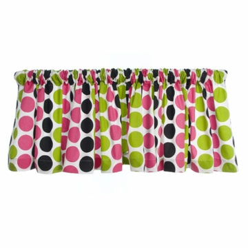Sweet Potato Dottie Multi Color Dot Valance