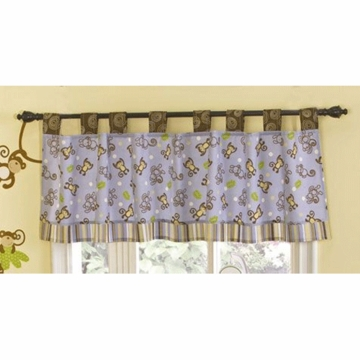 CoCo & Company Monkey Time Window Valance