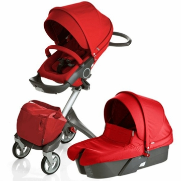 Stokke XPLORY Newborn Stroller in Red