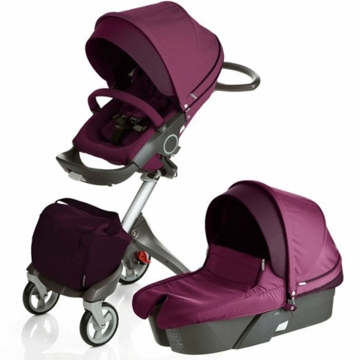 Stokke XPLORY Newborn Stroller in Purple
