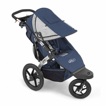Baby Jogger ATS All Terrain Swivel Jogging Stroller in Navy & Silver Fabric
