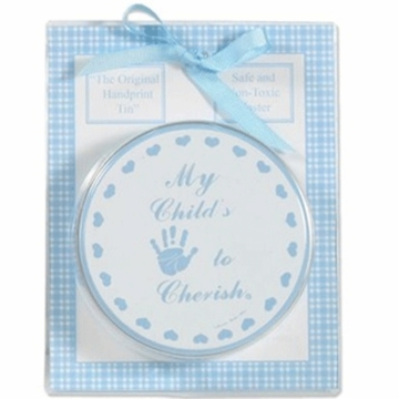 Child to Cherish Blue Carded Handprint