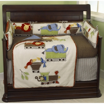Cotton Tale Designs Animal Track 4 Piece Crib Set