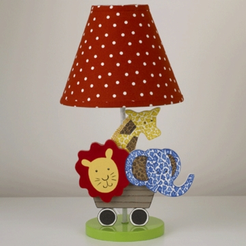 Cotton Tale Designs Animal Track Decorative Lamp and Shade