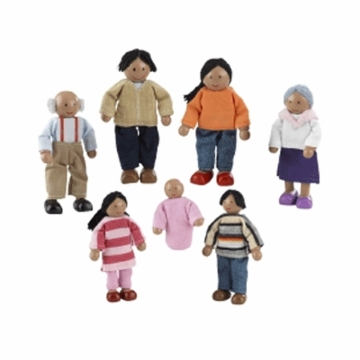 KidKraft Doll Family of 7 African Amercian