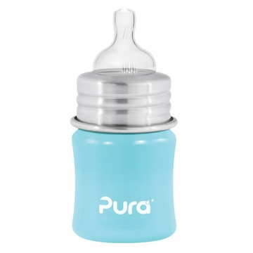 Pura Stainless Kiki 5 oz Infant Bottle - Aqua Blue