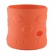 Pura Stainless 100% Silicone Bottle Sleeve - Short - Pebble Tangerine