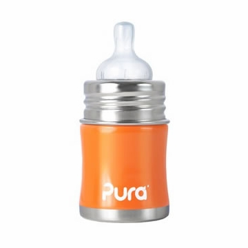 Pura Stainless Kiki 5 oz Infant Bottle - Orange