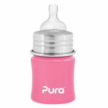 Pura Stainless Kiki 5 oz Infant Bottle - Pretty Pink