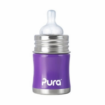 Pura Stainless Kiki 5 oz Infant Bottle - Grape