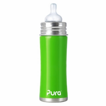 Pura Stainless Kiki 11 oz Infant Bottle - Spring Green