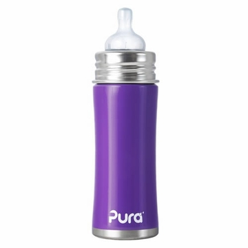 Pura Stainless Kiki 11 oz Infant Bottle - Grape