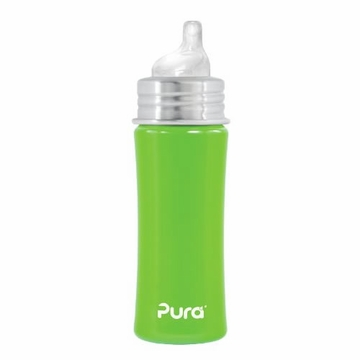 Pura Stainless Kiki 11 oz Sippy Bottle - Spring Green