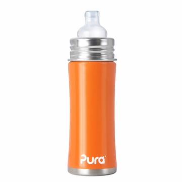Pura Stainless Kiki 11 oz Sippy Bottle - Orange