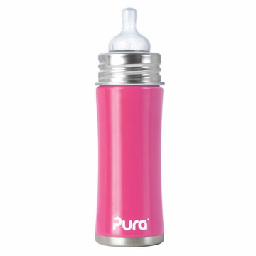 Pura Stainless Kiki 11 oz Sippy Bottle - Pretty Pink