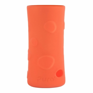 Pura Stainless 100% Silicone Bottle Sleeve - Tall - Pebble Tangerine