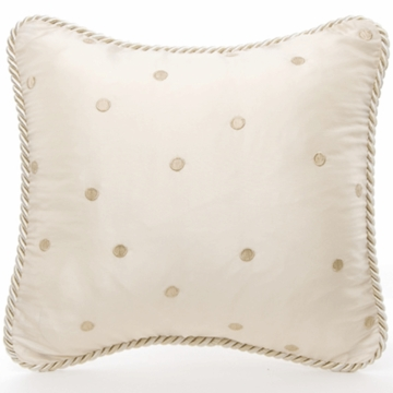 Glenna Jean Ava Mocha Dot Pillow