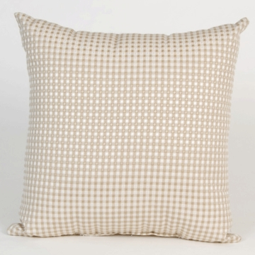 Glenna Jean Central Park Tan Check Pillow