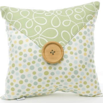 Glenna Jean Finley Dot with Button Pillow
