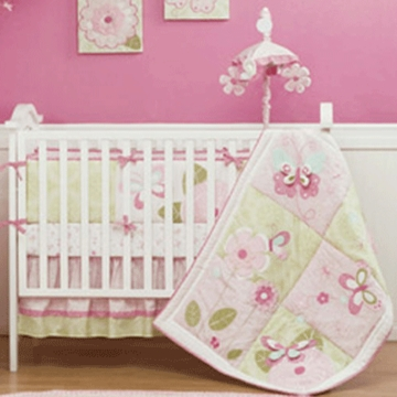 KidsLine Bella 6 Piece Crib Bedding Set