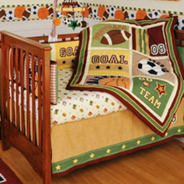 KidsLine Varsity 6 Piece Baby Crib Bedding Set