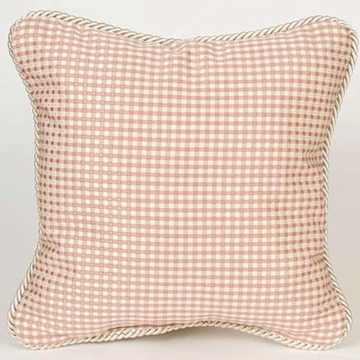 Glenna Jean Madison Pink & Tan Check Pillow