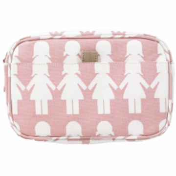 DwellStudio Paper Dolls Petal Travel Case-Small