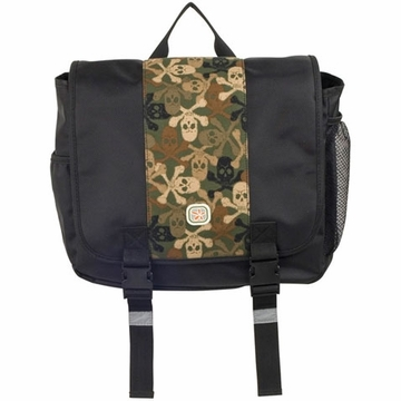 Fleurville Kid's Messenger - Black Pirate Camo Skeleton