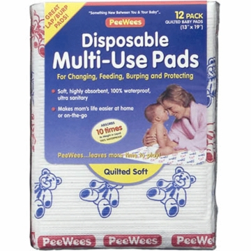 Continental Quilting Disposable Changing Pads-12 Pack