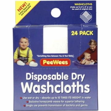 Continental Quilting Disposable Washcloths- 24 Pack
