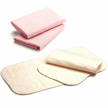 Graco Comfy Combination - 1 Pack 'n Play Sheet and 1 Changing Pad Cover in Pink and Cream