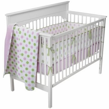 KidsLine Tiddliwinks Cozy Dot - Pink/Green 3 Piece Bed Set