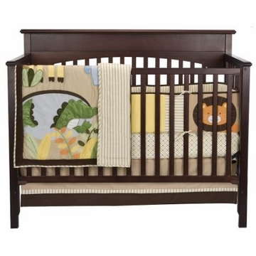 Kids Line Tiddliwinks Jungle Friends 3 Piece Crib Set