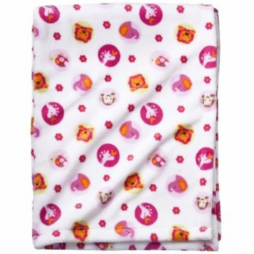 Kids Line Tiddliwinks Sweet Safari Printed Boa Blanket