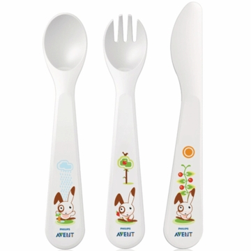 Avent Toddler Spoon, Fork, Knife 18+ Months